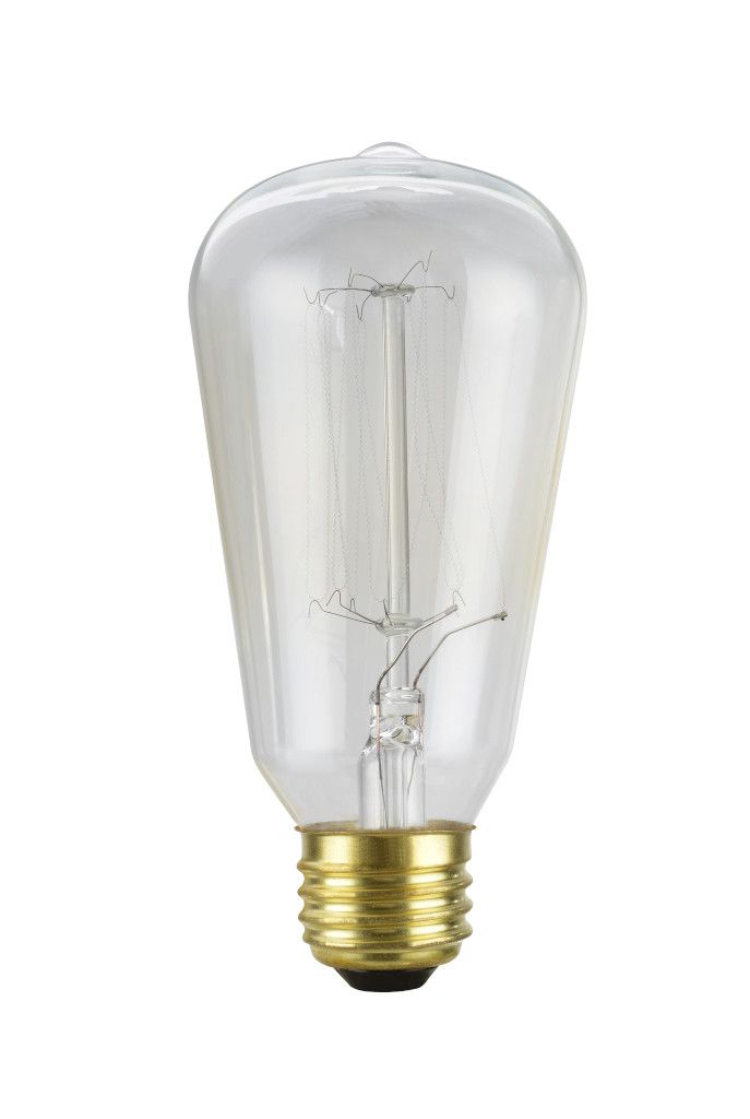 60 Watt Light Bulb: 10001 S19 Vintage Edison Filament Light Bulb, 60 Watt, E26 Medium Base,,Lighting