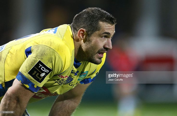 Scott Spedding of ASM Clermont looks on during the Top 14 rugby match between ASM Clermont Auvergne and Racing 92 at Stade Marcel Michelin on December 27, 2015 in Clermont-Ferrand, France.