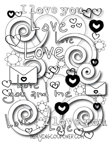 free colouring pages for adults and kids valentines day the flying couponer family