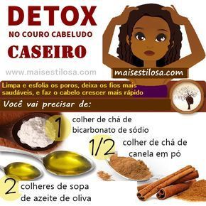 detox capilar caseiro com bicarbonato