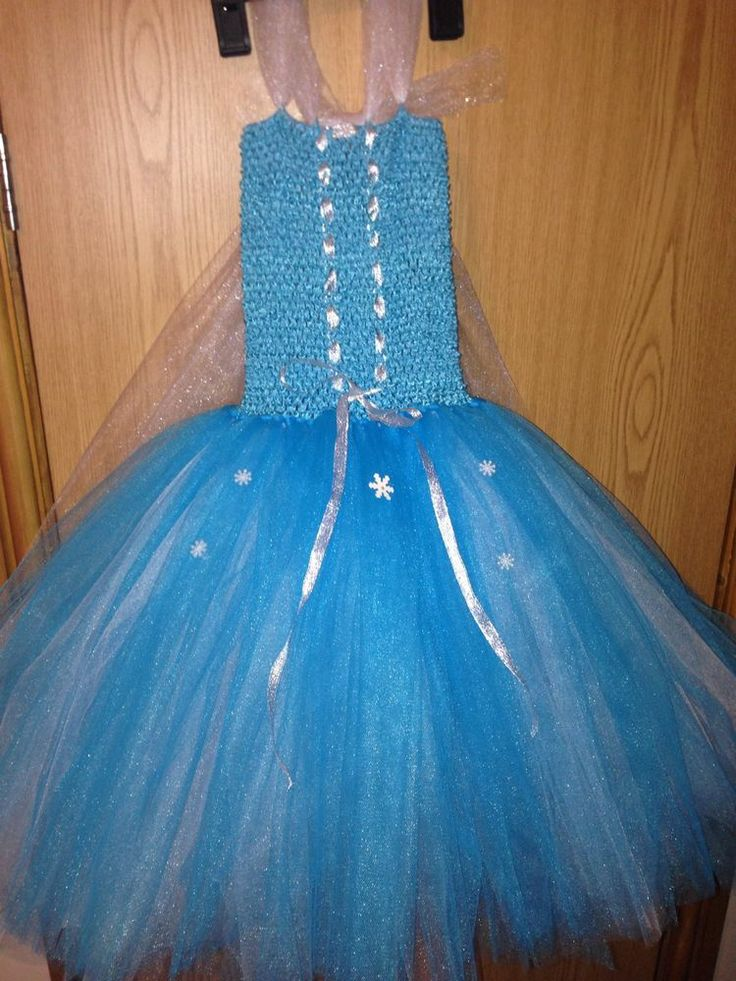 Handmade Elsa Frozen Tutu Dress. Fancy Dress/costume Age 6-7 Years