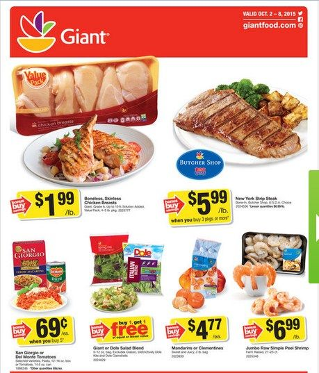Giant Food Weekly Ad October 2 - 8, 2015 - http://www.olcatalog.com/grocery/giant-food-weekly-ad.html