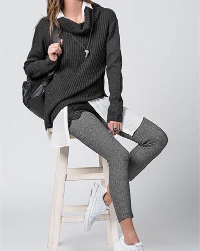 Balık sırtı desenli fermuarlı pantolon  www.fashionturca.com