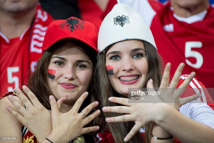 Beautiful Albanian Fans at Euro 2016 championship.