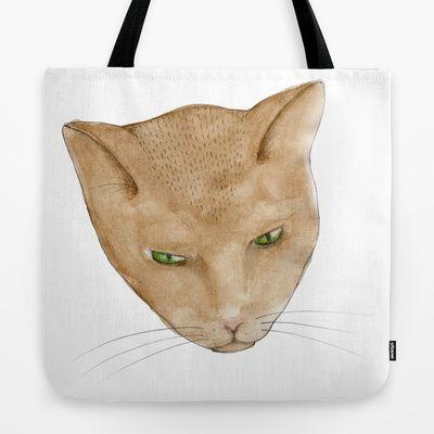 Totem Kitteh 2 tote bag on Society 6