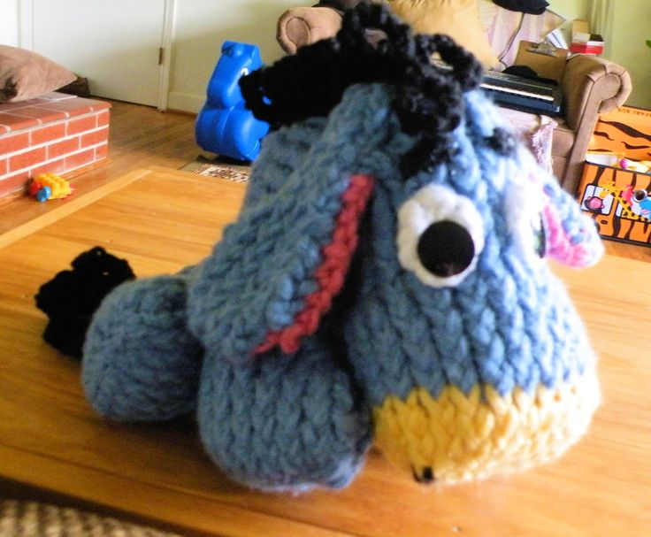 How to Loom Knit Eeyore with Loom Muse's video tutorial.  Try it out in Babysoft yarn for a soft plush gift.