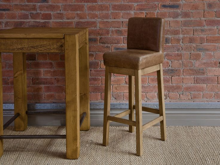 Square brown leather bar stool with back and brown wooden base plus brown  wooden table on brown rug  Modern Design Of Tall Bar Stools For Your Bar  Best 25  Extra tall bar stools ideas on Pinterest   Tall desk  Buy  . Should Your Bar Stools Match Your Dining Chairs. Home Design Ideas