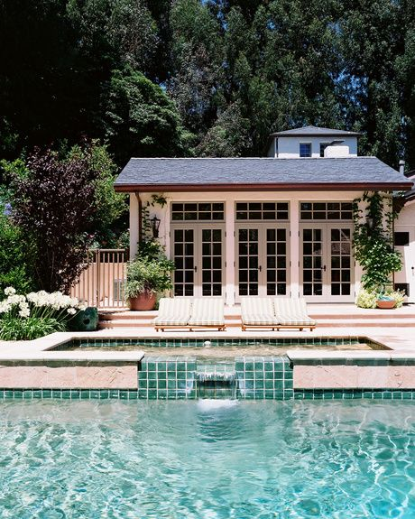 Studio William Hefner - Architect - Los Angeles - Patio - Pool - Contemporary - White - Blue - Fresh - Columns - Cottage - Glass Paneling - Glass Walls - Chic - Outdoor