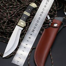 Tactical high hardness straight knife 7Cr13Mov blade camping survival diving self-defense tool outdoor knife sharp knife(China (Mainland))