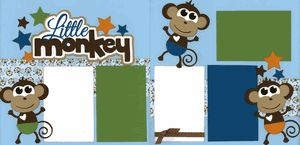 Little Monkey - Boy Page Kit  Out On A Limb Scrapbooking