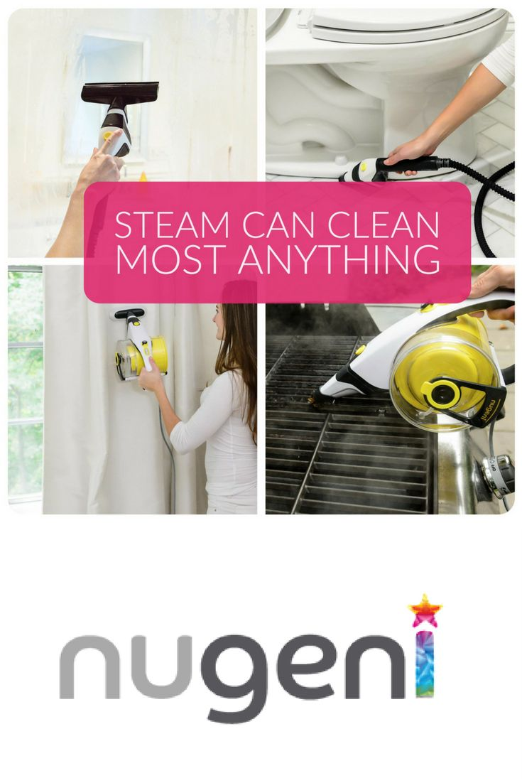 Clean anything, anywhere.  Nugeni steam cleaners can be used to clean most any sealed surface – including pet stains & odors, window coverings, sealed hard flooring, mattresses, clothing, drains, tile & grout, toys, toilets, kitchen appliances, car seats, strollers, high chairs, grills & much much more…