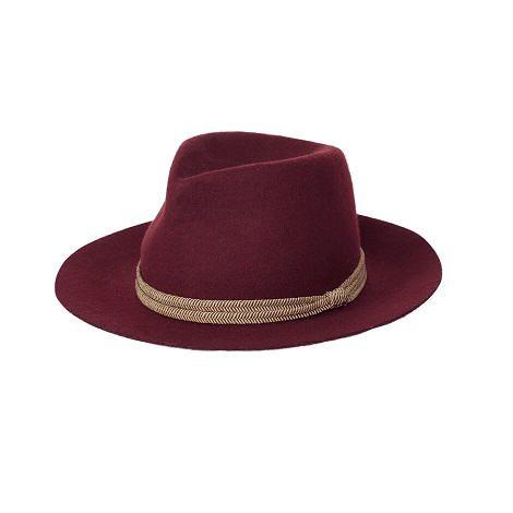 Chapeau femme en laine bordeaux - Maje