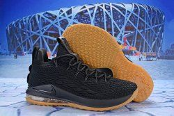 42daa87b6f97 Nike LeBron 15 Low Black Gum AO1756 001 Men s Basketball Shoes James  Trainers
