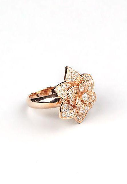Rose Gold Lotus Ring  ღ