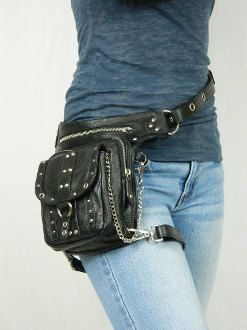 Oh my gosh! I so very much want this!!!! Chrome Uptown Pack Thigh Holster Protected Purse by WCCouture, $239.00