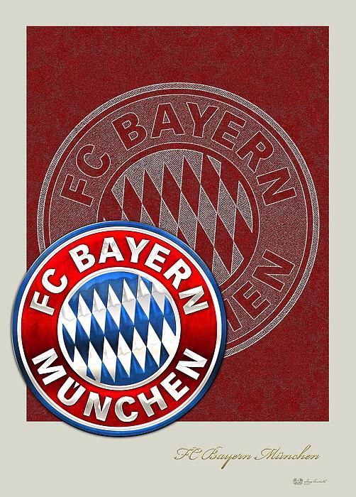 FC Bayern Munich Logo and 3D Badge fine art print by Serge Averbukh via FineArt America...