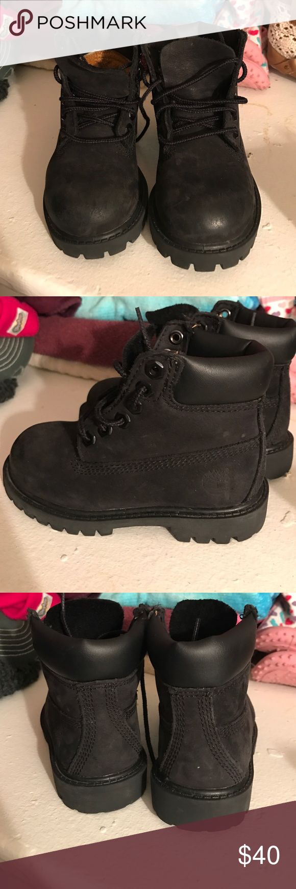 Toddler Black timberland boots All black timberland  boots.... In good condition.... barely worn Shoes Boots