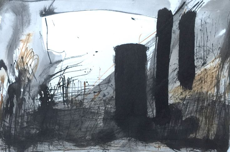 ink on paper 30 x 42 cm by George Thomas