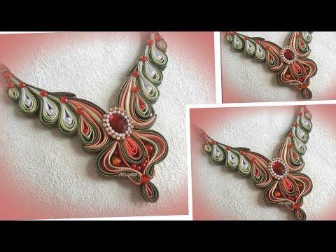 Handmade necklace/Колье из косой бейки, своими руками/bias binding/МК/ DIY/ - YouTube