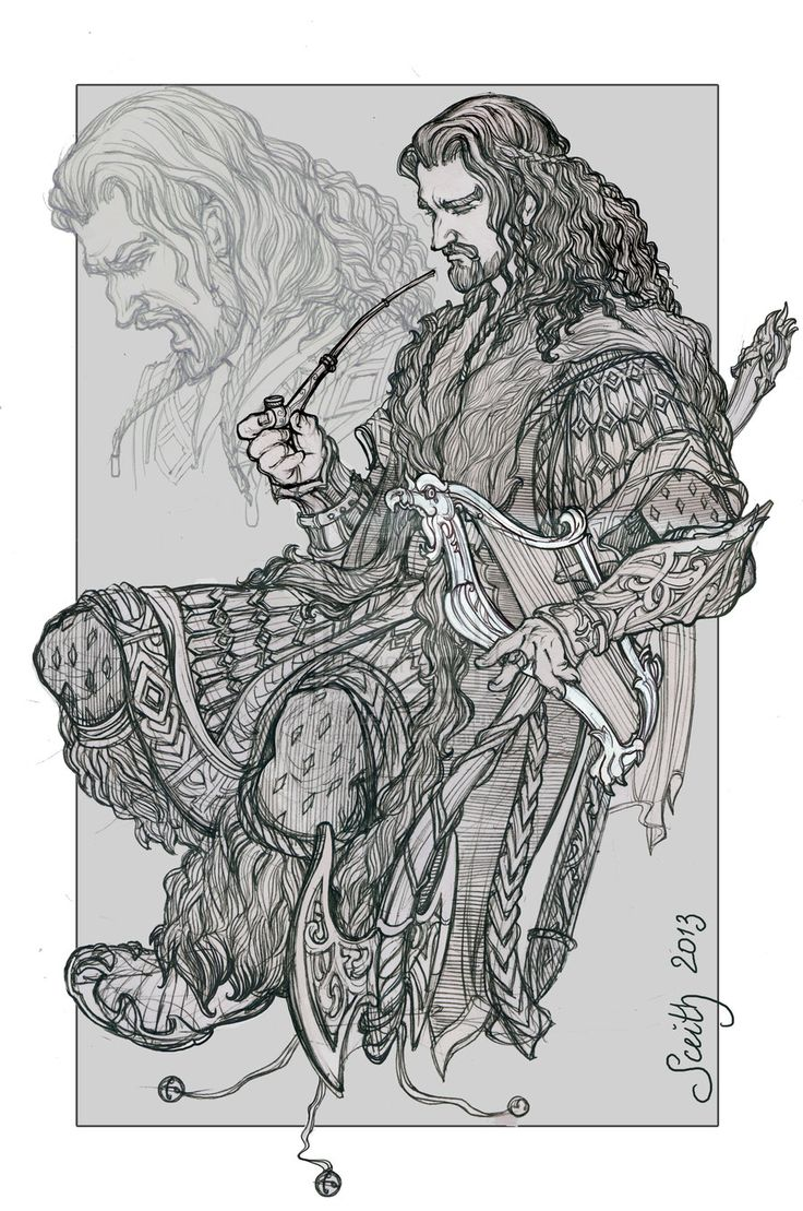 Far over the misty mountains cold.. by ~SceithAilm on deviantART  And once again, I'm not so proud of my drawing of Thorin anymore. :/