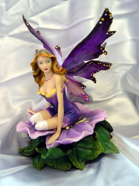 Fairy Sitting on Purple Pansy (New!) 1630 (B.O.) -