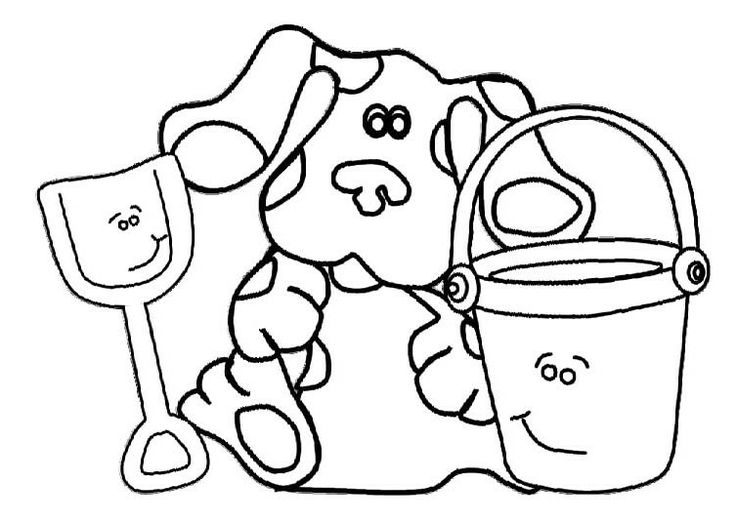 Activity Blues Clues Dog Coloring Pages