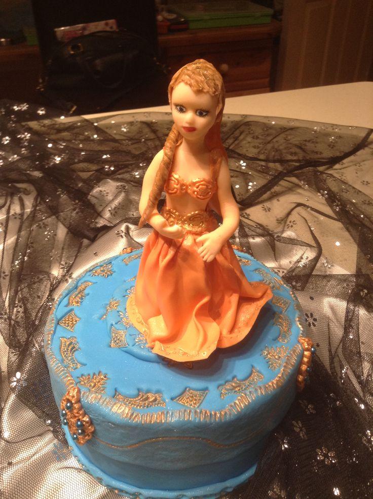 Belly dancer cake topper sugarpaste