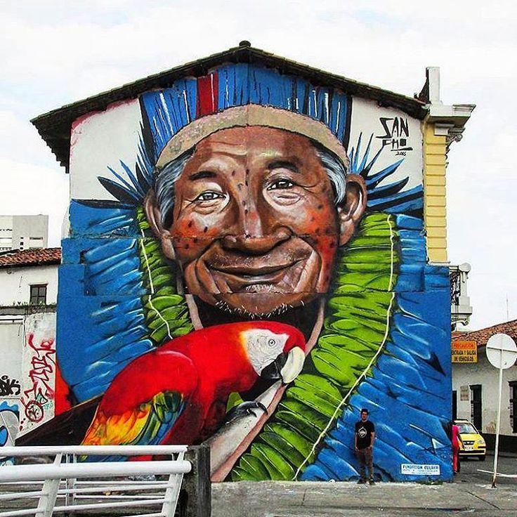 "@sancho_graffiti нарисовал ""Nativos"" в Кали (Колумбия). Address: Cra. 4 # 5-1, Cali - Valle del Cauca, Colombia. #sancho #graffiticali #streetartcali #calistreetart #graffiticolombia #colombiastreetart #streetartcolombia #граффити_tschelovek #streetart #urbanart #graffiti #mural #стритарт #граффити #wallart #graffitiart #art #paint #painting #artederua #arteurbana #wall #graffiticulture #graffitiwall #streetart_daily #streetarteverywhere"