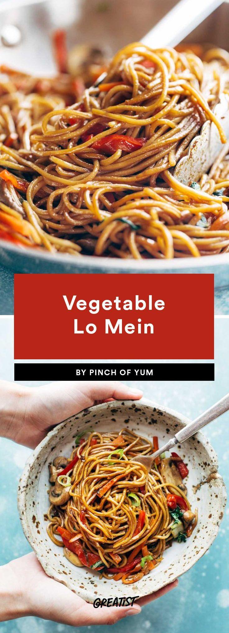 1. Veggie Lo Mein  #greatist http://greatist.com/eat/vegetarian-dinners-in-15-minutes-or-less