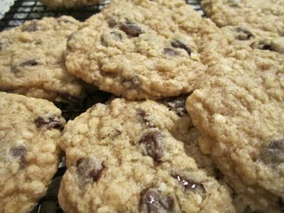 GF Quinoa Chip & Raisin Cookies. These are chewy and delicious. Vegan option and WW points.