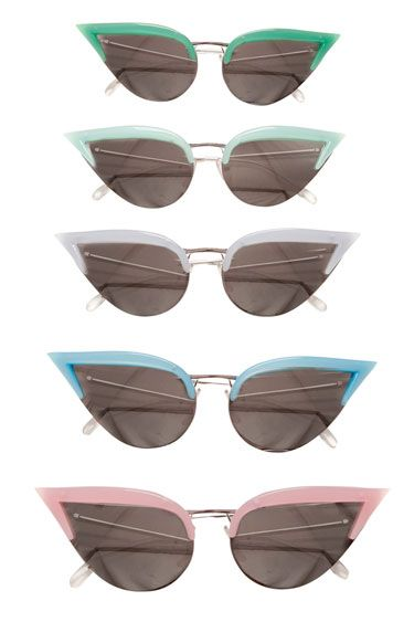 """Pastel Persuasion"" via Bazaar Cateye Fashion Shades Shade FashionistaFridays BMynroeEmbodied Style Sunglasses"