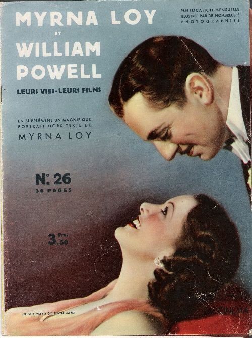 #MYRNA LOY #WILLIAM POWELL #VINTAGE MAGAZINE