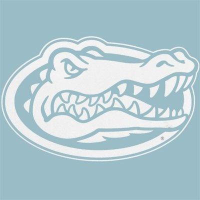 Florida Gators White Logo Decal  /   Tête de Crocodile