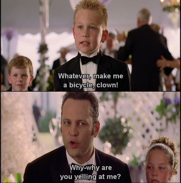 "That moment when Jeremy got harassed by a kid. | 21 Moments That Prove ""Wedding Crashers"" Is One Of The Funniest Movies..."