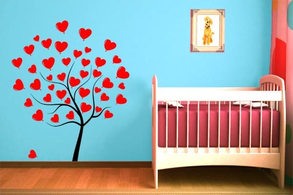 Wandtattoo Herzbaum Deko Für Das Kinderzimmer