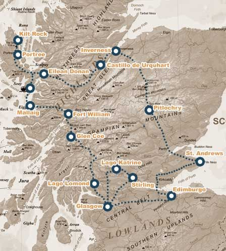 Ruta de 8 días por EscociaViajar por Escocia, Tours en español                                                                                                                                                                                 Más