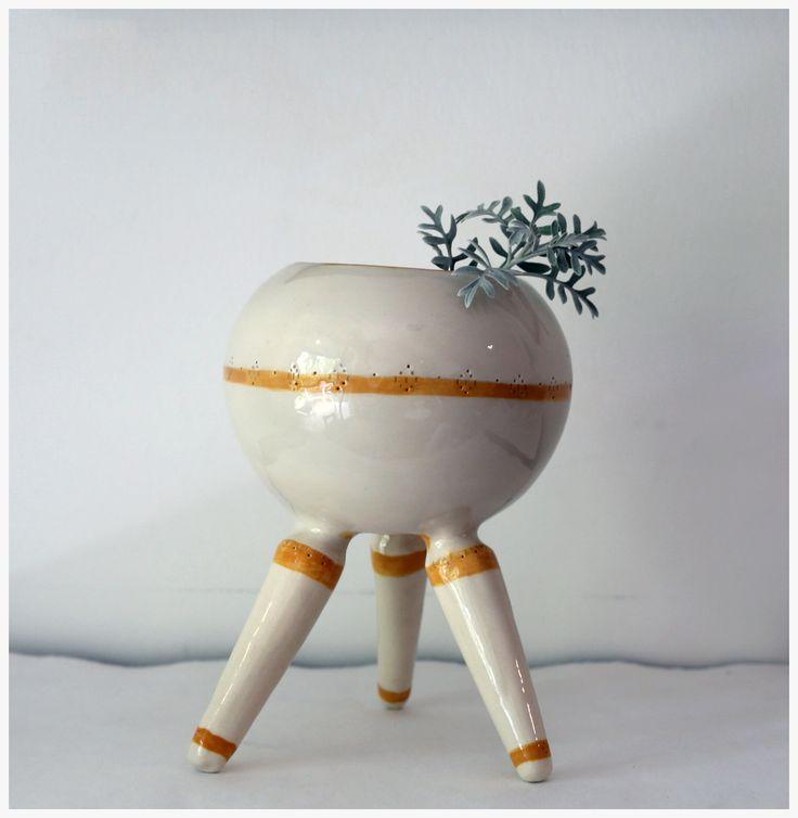 maceta planta ceramica artesanal