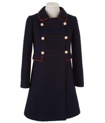 Cappotto in tessuto di lana lavorato a maglia