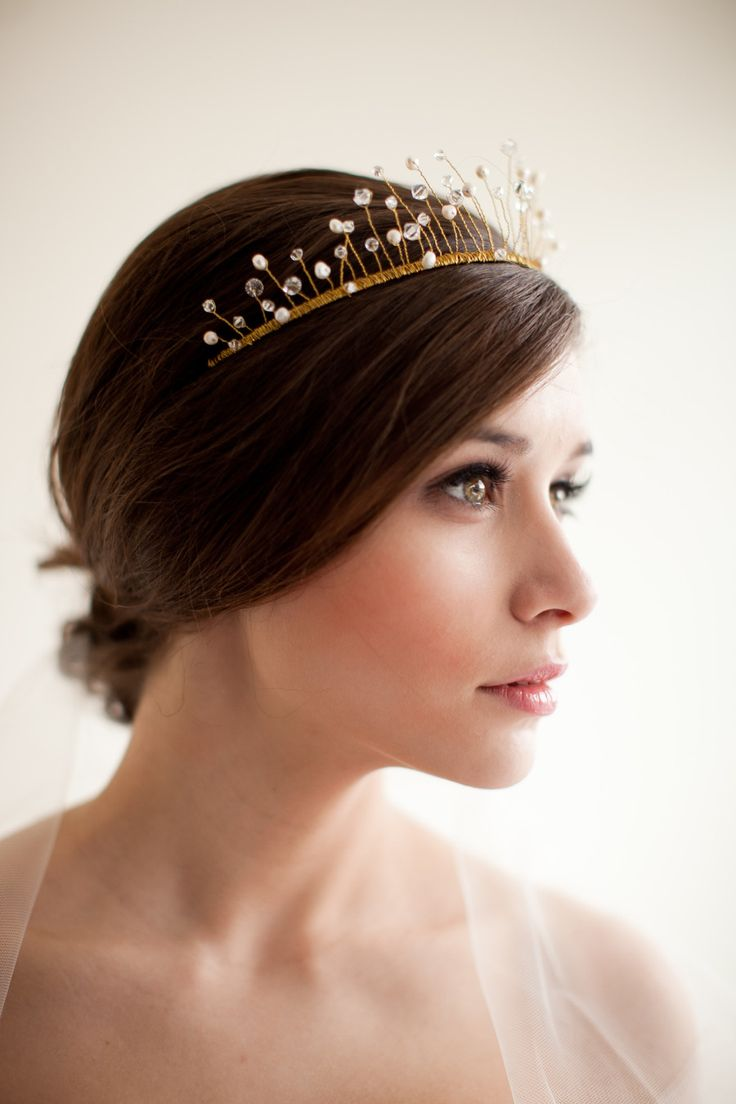 Crystal and Pearl Crown - Celeste Style 2213