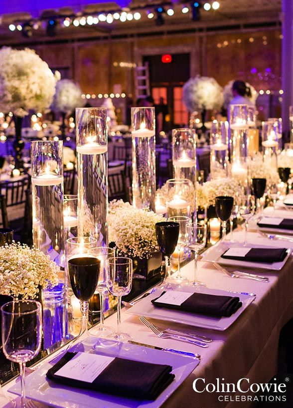 10 Unbelievably Creative Centerpiece Ideas: Floating candles are elegant, set the mood, and are an affordable way to make a big impact with your wedding décor.