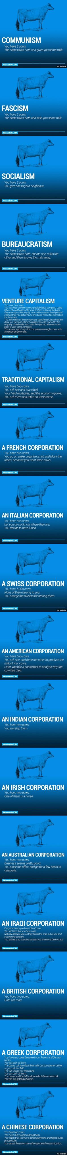 The World's Economy Explained With Just Two Cows - 9GAG