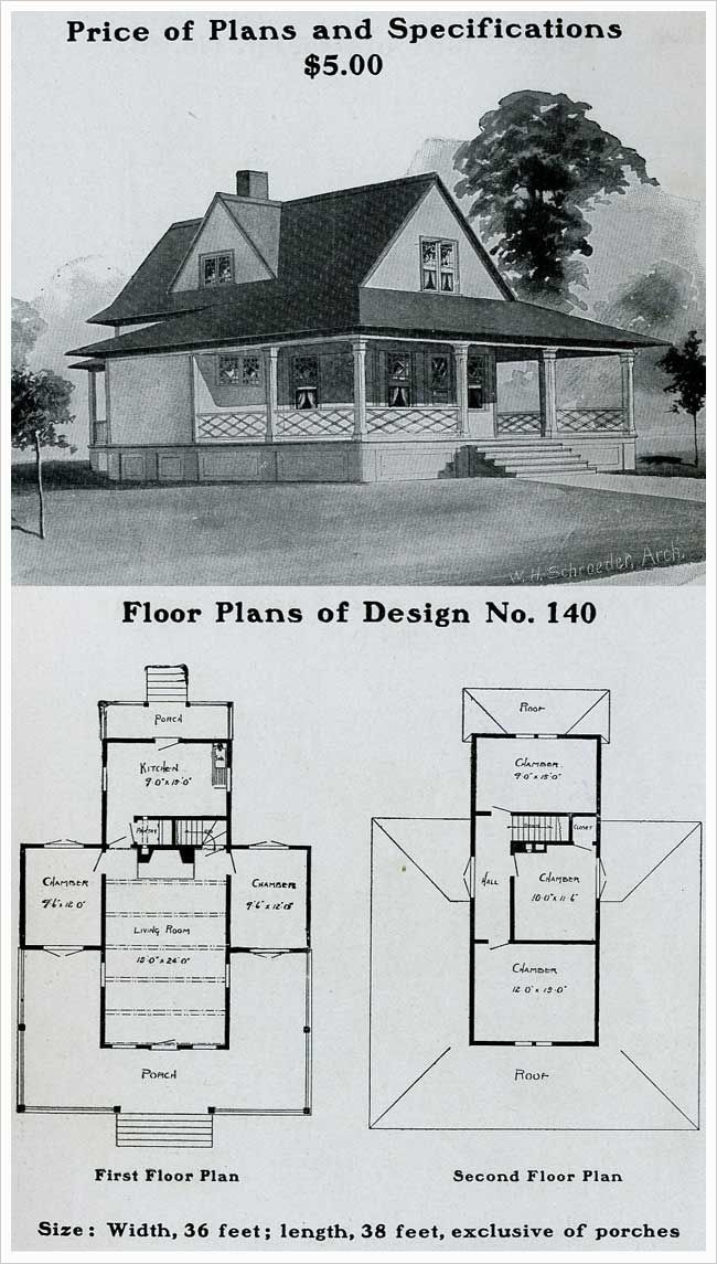 Vintage house plans 1900s a collection of other ideas to for Queen anne cottage house plans