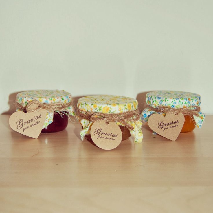 Jams with fabric and label by Susie creativa