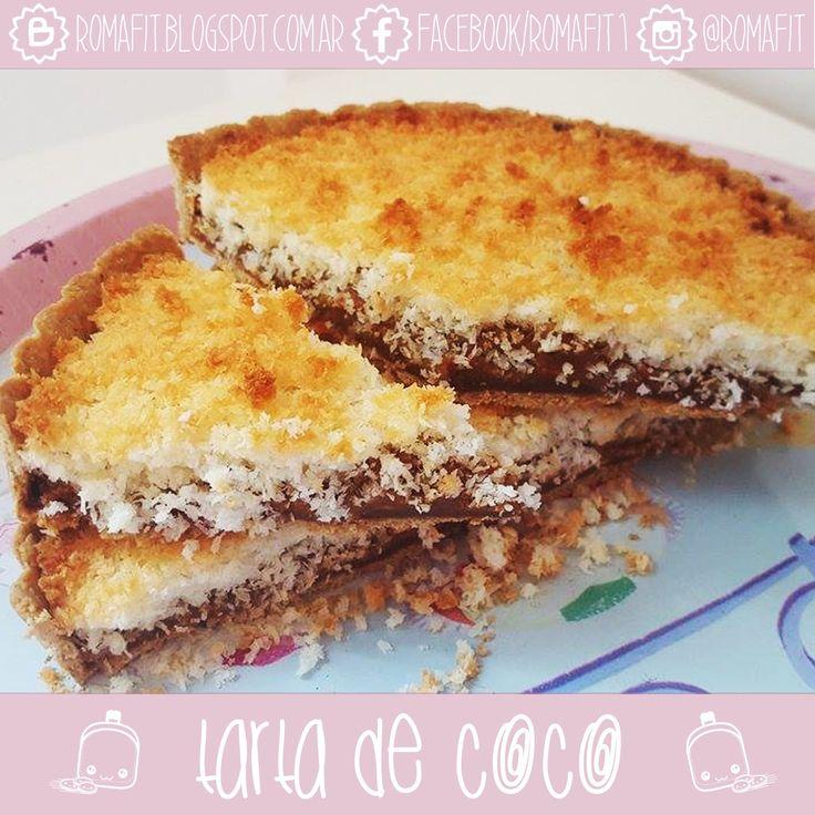 Recetas Fit Para Gente Común: Tarta de coco. Fit & Healthy. Sin azúcar ni harinas refinadas ♥