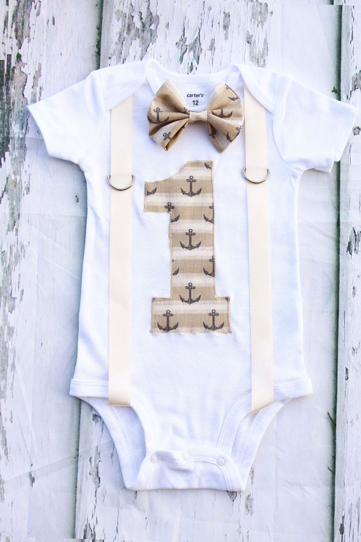 Tan Nautical Theme Bow tie and Suspenders set, Boy Cake Smash Boy first year outfit Boy number 1, Boy first birthday, Boy Second,Boy Sailing by LoveAndLollipopsBaby on Etsy