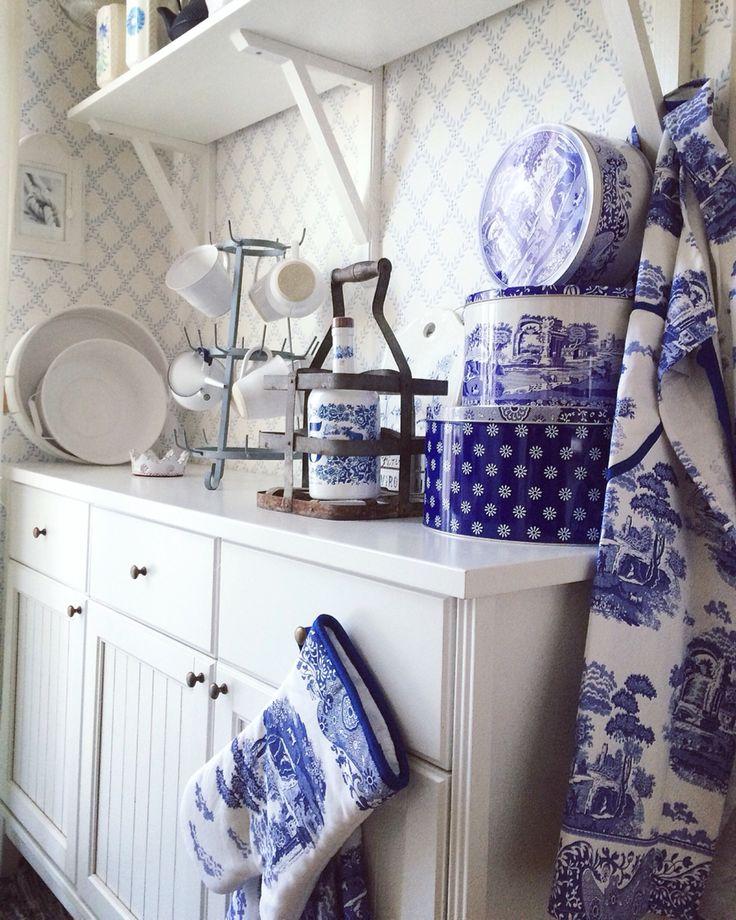 In my kitchen I love Spode Blue Italian