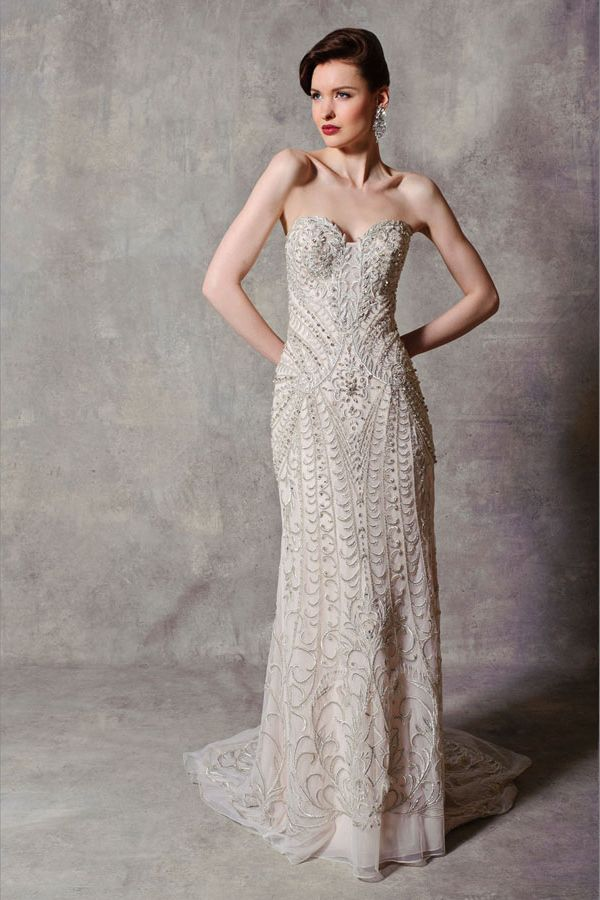 2 Stephen Yearick Bridal Strapless Sweetheart Gown Chicago Wedding Dress Dimitras Boutique1 WeddingBridal