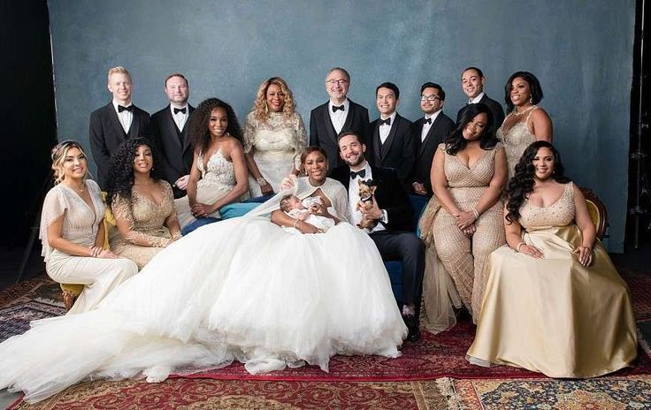 Serena Williams and her new husband Alexis Ohanian wedding pictures