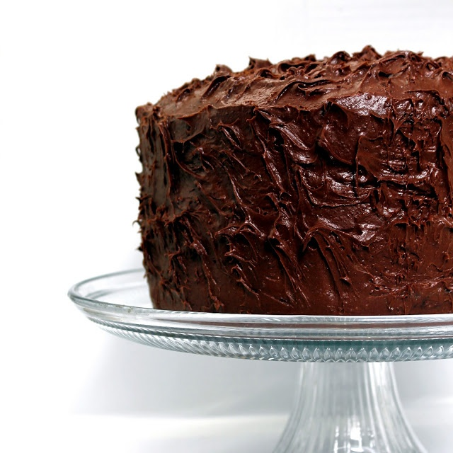 The Most Amazing Chocolate Cake. I swear this is the cake the fat kid devoured on Matilda.