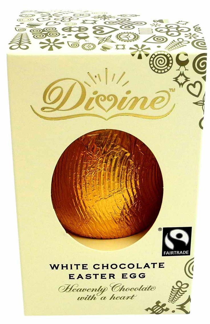 Påskägg i vit choklad från IM Fair Trade. 39 kr/st.